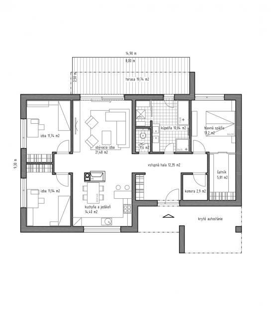 Novostavba 4-izbového rodinného domu  County Dunajská Streda VS-PN-885