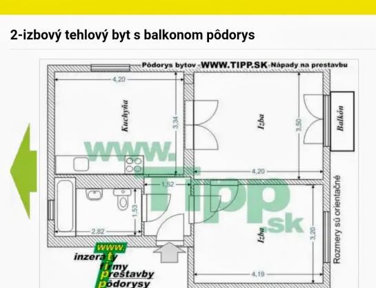 2 izbový tehlový byt na PREDAJ - KN Okres Komárno ksk-PN-1299